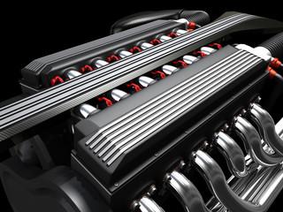 Zwölfzylinder Motor