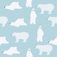 cute polar bears pattern