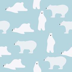 cute polar bears pattern