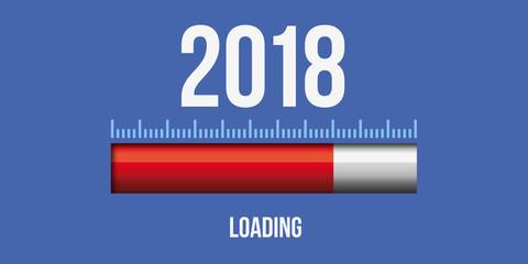 2018 - loading - carte de vœux - télécharger - téléchargement - Start-Up - départ