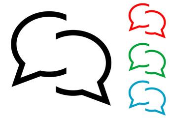 Icono plano chat varios colores