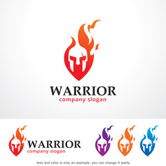 Warrior Logo Template Design Vector, Emblem, Design Concept, Creative Symbol, Icon