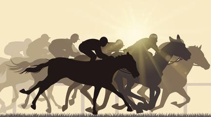 finishing horse racing