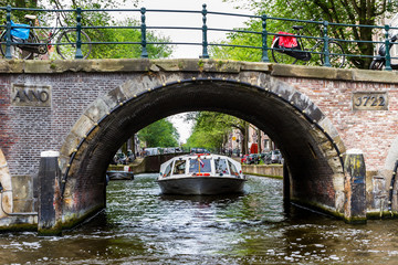 One fine day in romantic Amsterdam, Netherlands