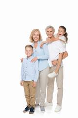 happy grandparents with grandchildren