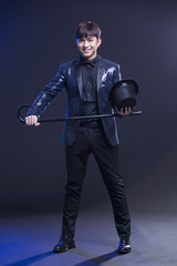 Young male magician