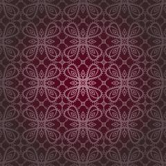 Purple vine pattern repeated background.