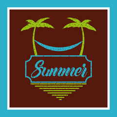 summer relax flat icon vector illustration design graphic