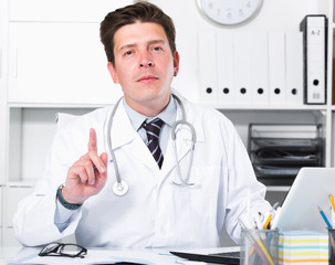 Portrait of young medical worker