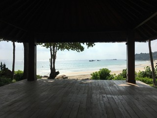 beach view from a Palapa