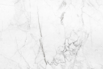 White marble texture in natural patterned for background design.