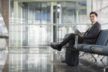Businessman waiting in airport