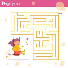 Children's labyrinth. Vector.