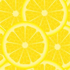 Seamless pattern with yellow lemons
