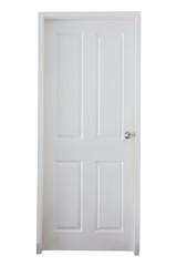wood laminated door closed isloated on white background