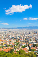 Skyline of Athens, Greece