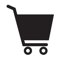 shopping cart icon on white background. flat style design. shopping cart sign.