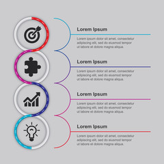 Professional Business Infographic Elements. Infographics design template. Can be used for workflow layout, diagram, number options, start-up options, web design. Presentation design element.