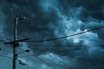 Storm and powerlines