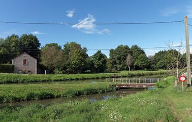 Canal de Briare en région centre Loire