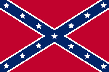 National flag of the Confederate States of America. Vector