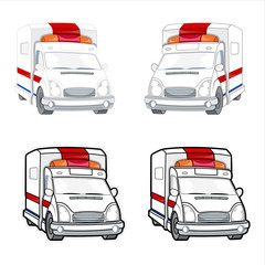 Ambulance Vector Set