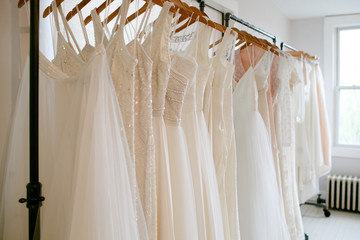 Rack of wedding dress