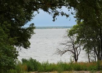 Lake Texoma seen from the edge of Preston Bend Road, Preston, Texas