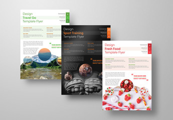 Fitness and Lifestyle Flyer Layout Set 3