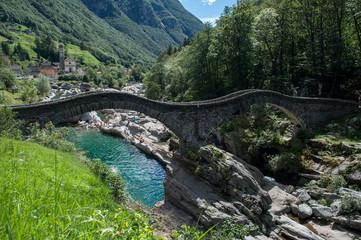 Old stone bridge Verzasca - Switzerland