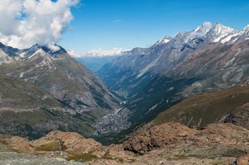 A deep valley in Switzerland