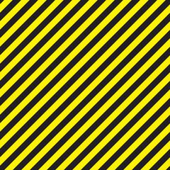 Seamless chevron diagonal black and yellow warning stripes background