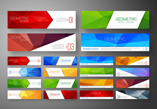 16 Web Banners with Gemetric Elements