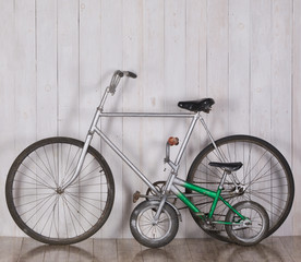 Adult and children's bicycles..Family bicycles