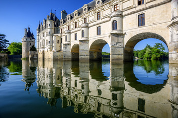 Chenonceau Castle in Loire Valley, France
