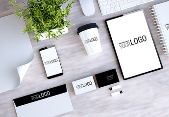 Stationery and Devices Mockup 5
