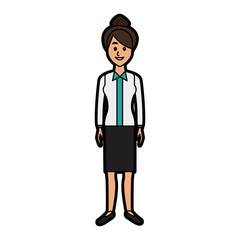 beautiful woman character people standing vector illustration