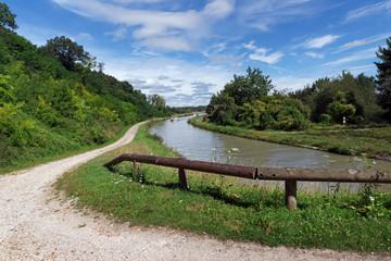 Canal de Briare en region centre Loire