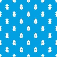 Chafer beetle pattern seamless blue