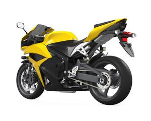 Yellow Motorcycle Isolated