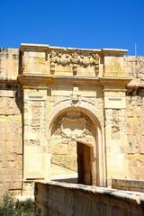 View of St John bastion and advanced gate (bastion gate), Vittoriosa (Birgu), Malta.
