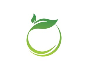 round green leaf logo