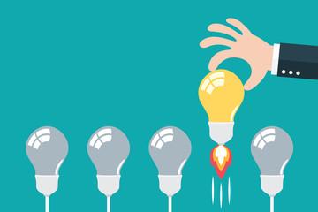 Choose best idea concept. Fototapete
