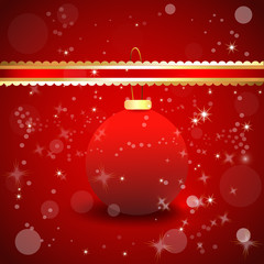 Christmas Ball Bokeh Background