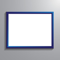 Vintage picture frame vector illustration. Quote and rectangle frame for text isoleted, mockup modern chat massage.