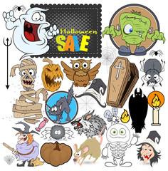 Halloween Graphics Vector Set