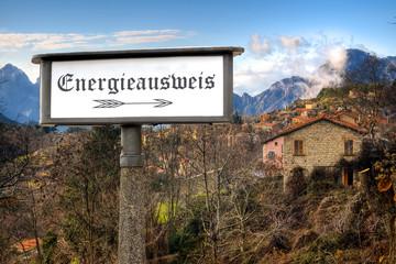Schild 184 - Energieausweis
