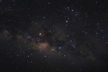 Panorama milky way galaxy with stars and space dust in the universe