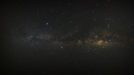 Panorama milky way galaxy with stars and space dust in the universe. High resolution