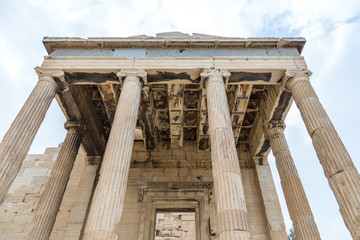 Erechtheion is an ancient Greek temple, on the north side of the Acropolis of Athens in Greece.
